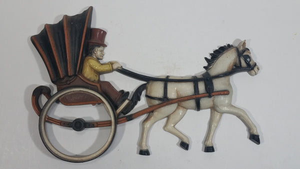 Vintage 1975 Homco Horse Drawn Carriage Early Transportation Wall Decor No. 7358 Made in USA