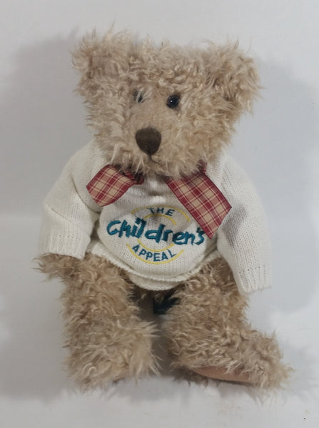 "RUSS Berries ""TOFFEE"" Light Brown Teddy Bear Toy Stuffed Animal With ""The Children's Appeal"" Sweater - Treasure Valley Antiques & Collectibles"