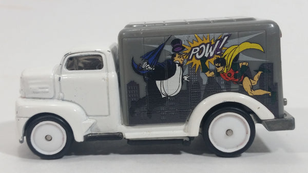 2015 Hot Wheels Pop Culture Batman Classic TV Series '49 Ford C.O.E. White Delivery Truck Die Cast Toy Car Vehicle