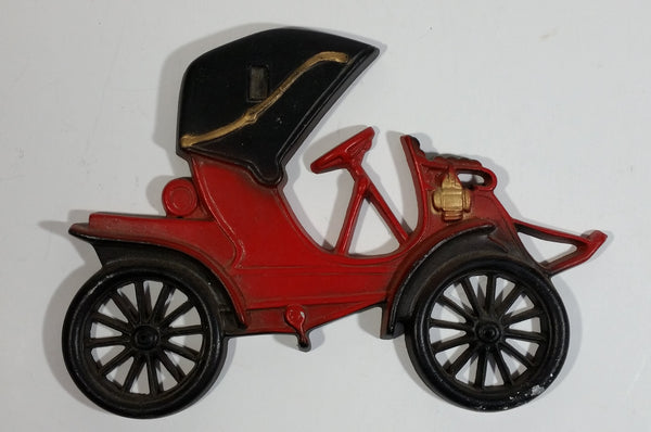 Vintage Midwest Products Co. Red Antique Car Metal Wall Hanging No. 211