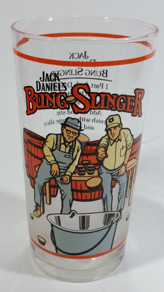 "Vintage Jack Daniel's Bung Slinger 5 1/4"" Drinking Tumbler Highball Glass Cup - Treasure Valley Antiques & Collectibles"