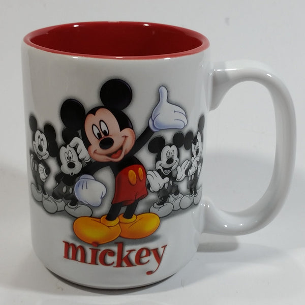 Authentic Original Disney Parks Walt Disney World Mickey Mouse 3D White and Red Ceramic Coffee Mug - Cartoon Character Collectible