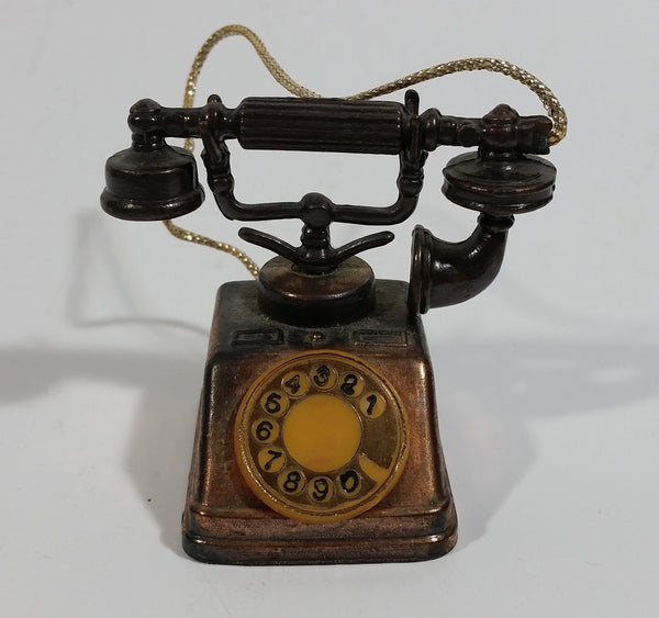 Vintage Miniature Rotary Telephone Phone Metal Pencil Sharpener Doll House Furniture Size