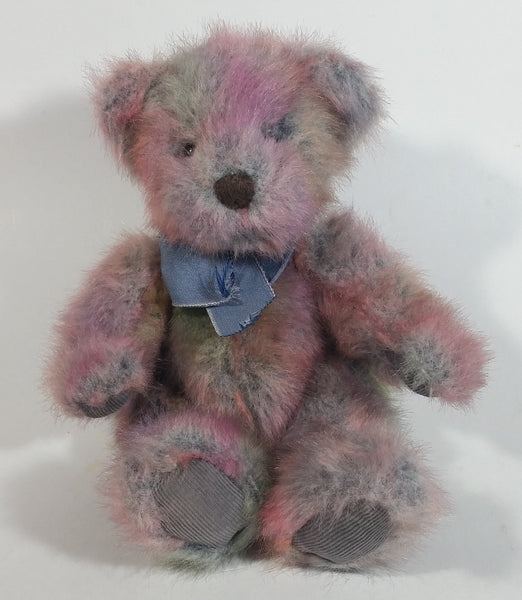 "RUSS Berries ""Mayberry"" Pink Blue Grey Mixed Colored Teddy Bear Toy Stuffed Animal - Treasure Valley Antiques & Collectibles"