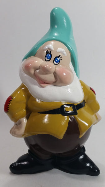 "Walt Disney Snow White and the Seven Dwarfs ""Bashful"" 8"" Tall Hand Painted Ceramic Ornament"