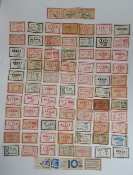 Vintage 1960s and 1970s Collection Of 80 Nabob Products Paper Assorted Coupons Advertisements