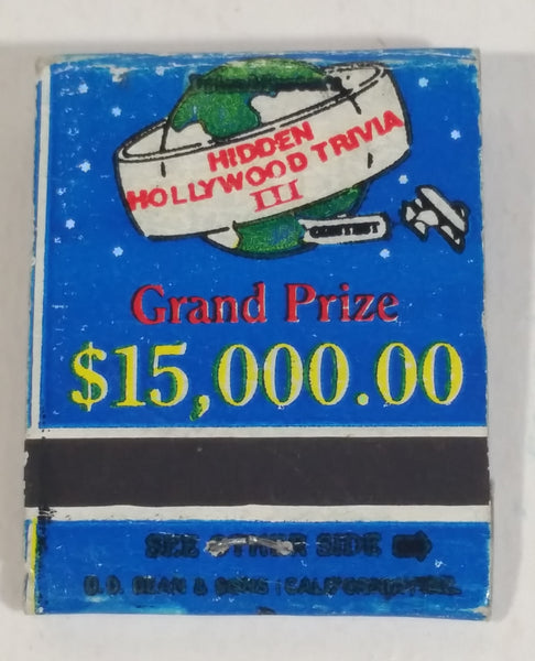 Vintage D.D. Bean & Sons Co. Hidden Hollywood Trivia III Grand Prize Win $15,000.00 Solve The Puzzle Never Used Match Pack Book - Treasure Valley Antiques & Collectibles