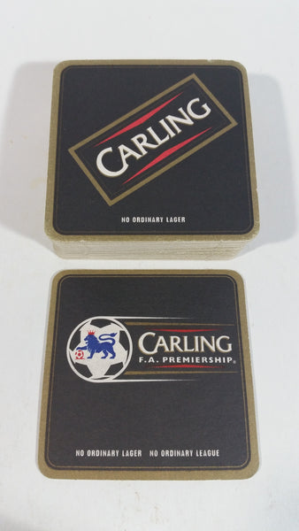 "Carling F.A. Premiership Soccer Football ""No Ordinary Lager, No ordinary League"" Lot of 26 Beer Drink Coasters"