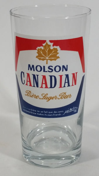"Vintage Molson Canadian Lager Beer Biere 5 1/2"" Drinking Tumbler Glass Cup"