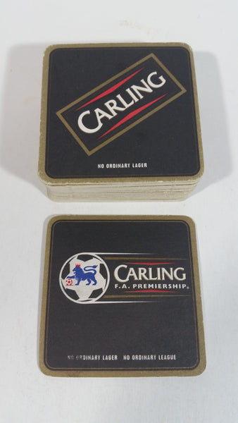 "Carling F.A. Premiership Soccer Football ""No Ordinary Lager, No ordinary League"" Lot of 28 Beer Drink Coasters"