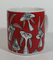 1994 Applause Warner Bros Looney Tunes Bugs Bunny Rabbit Hare Cartoon Character Red Coffee Mug Cup Animated TV Show Collectible