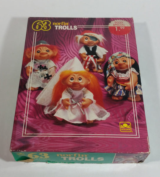 1992 Golden Norfin Trolls 63 Piece Toy Puzzle Collectible - Complete