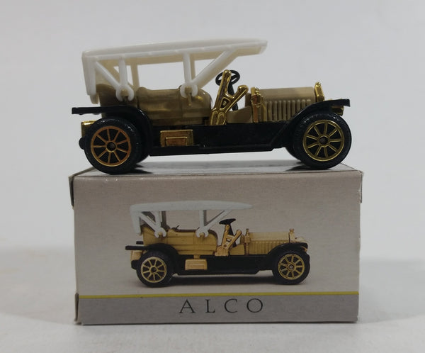 Vintage Reader's Digest High Speed Corgi ALCO Gold and White No. 215 Classic Die Cast Toy Antique Car Vehicle