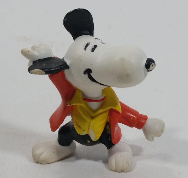 Vintage United Features Peanuts Snoopy 1970's Disco Dancer PVC Toy Figure Made in Hong Kong