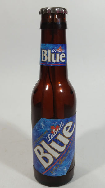"Labatt Blue Pilsener Beer Bottle Shaped Lighter - Empty - 7 3/4"" Tall"
