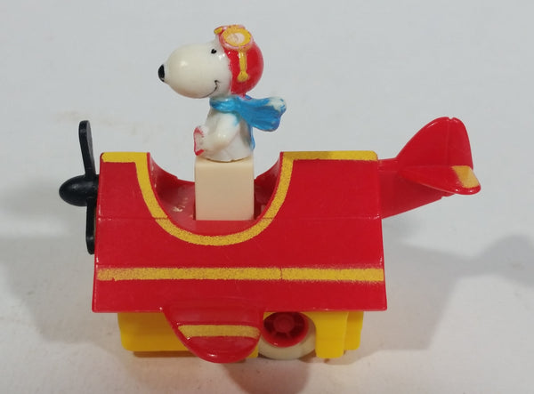 Vintage 1989 Peanuts Gang Pop Mobiles United Features Syndicate Snoopy Flying Ace Doghouse Plastic Toy McDonald's Happy Meals