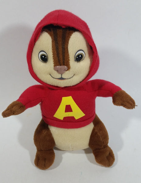 "Alvin and The Chipmunks ""Alvin"" 8 1/2"" Red Hooded Cartoon Character Stuffed Animal Plush"