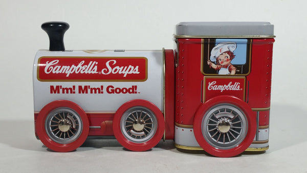 1997 Campbell's Soup M'm! M'm! Good! Train Engine Locomotive Tin Metal Container Collectible