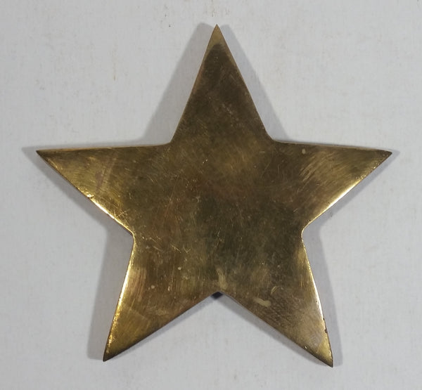 "Solid Brass Metal 4"" x 4"" Star Shaped Decoration"