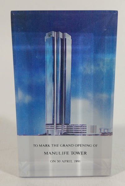 April 30, 1991 Grand Opening of the Manulife Tower Building Skyscraper Resin Paper Weight Collectible