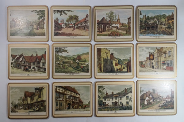 Vintage Pimpernel Old English Inns Place Mats Set of 12