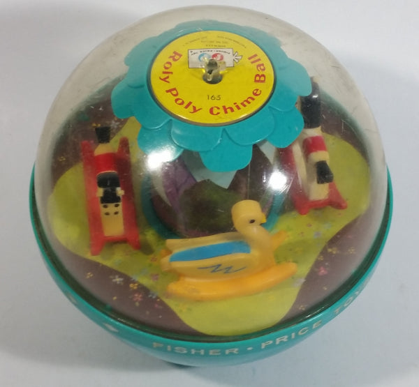 Vintage Fisher Price Roly Poly Chime Ball Carousel Sound Noise Maker Ball