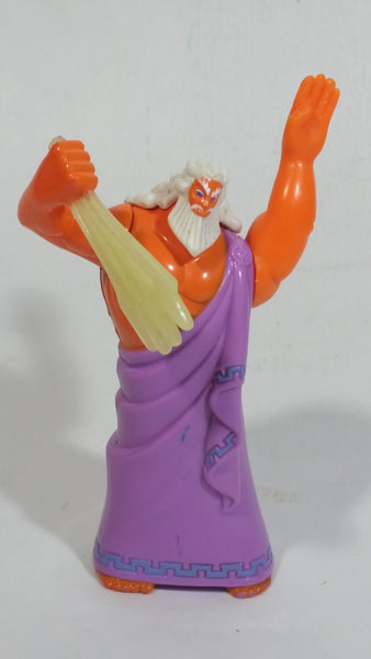 1997 Disney Hercules Animated Movie Film Zeus Cartoon Character Plastic McDonald's Happy Meal Toy Collectible