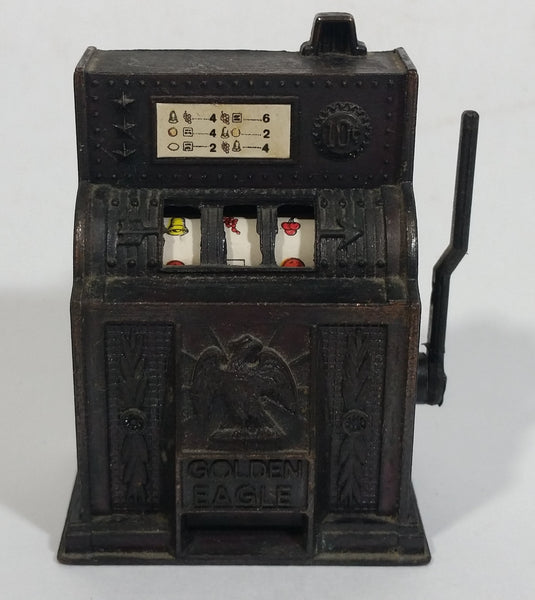 Vintage Miniature Slot Machine with Working Lever Metal Pencil Sharpener Doll House Furniture Size