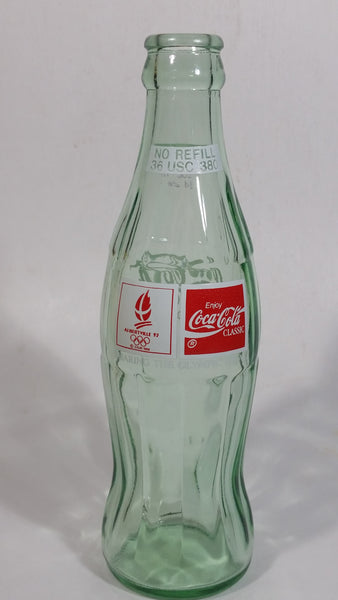 1992 Albertville, France Olympic Winter Games Coca-Cola Coke Glass Soda Pop Bottle Sports Beverage Collectible