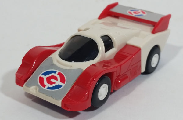 Vintage 1985 Tomy Japan Gobot Commandrons Red Blue White Transformer Car Toy Vehicle - McDonald's Happy Meals