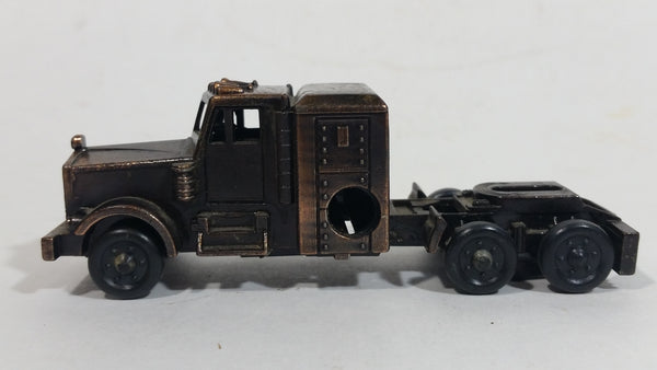 Vintage Miniature Semi Truck Tractor Rig Vehicle Metal Pencil Sharpener Doll House Furniture Size