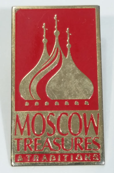 Moscow Treasures and Traditions Red Metal Pin - Exhibit Sponsored by Boeing