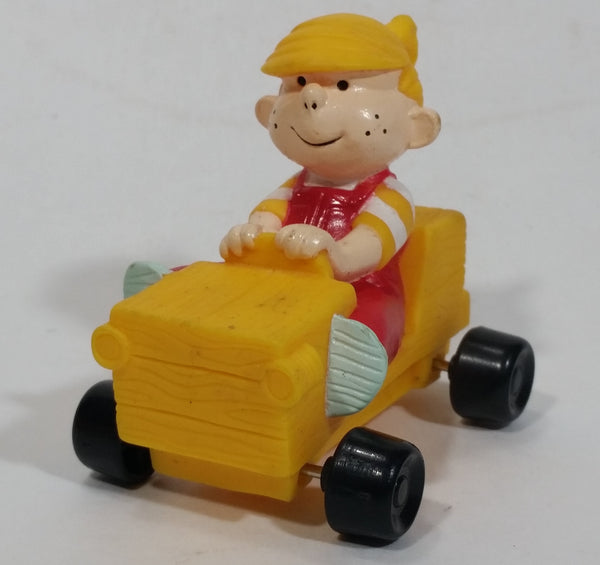 1996 Dennis The Menace Movie Film Character Yellow Plastic Toy Car Vehicle - Dairy Queen D.Q. Kid's Meal