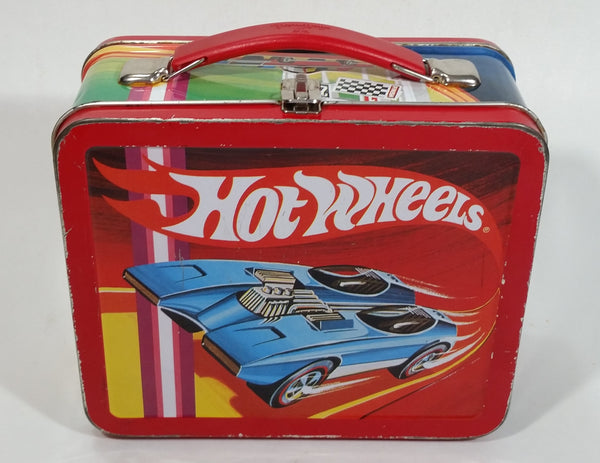 1997 Hot Wheels Hallmark Small Metal Lunch Box Car Carrying Case Numbered 6E/3542