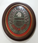 Vintage 1986 Adolph Coors Company George Killian's Irish Red Ale Oval Shaped Wooden Framed Pub Lounge Bar Mirror Advertisement