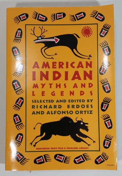 1984 American Indian Myths and Legends Paperback Book by Richard Erdoes and Alfonso Ortiz - Pantheon - Treasure Valley Antiques & Collectibles