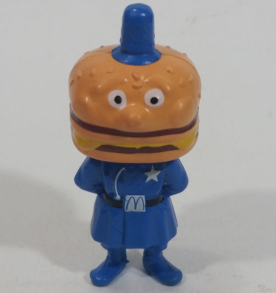 "Vintage 1985 McDonald's Officer Big Mac PVC Toy Police Cop Figure with Burger Head - 2 3/4"" Tall"