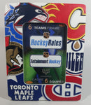 "Elby Gifts NHL Hockey Rules Ice Hockey Canadian Teams 5"" x 7"" Stand Up Resin Photo Frame"