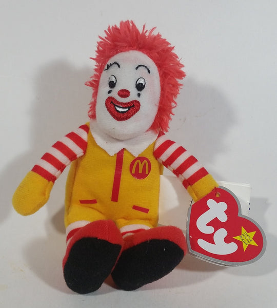 2009 Ty Beanie Baby Ronald McDonald Toy Character Stuffed Plush McDonald's Happy Meal Toy