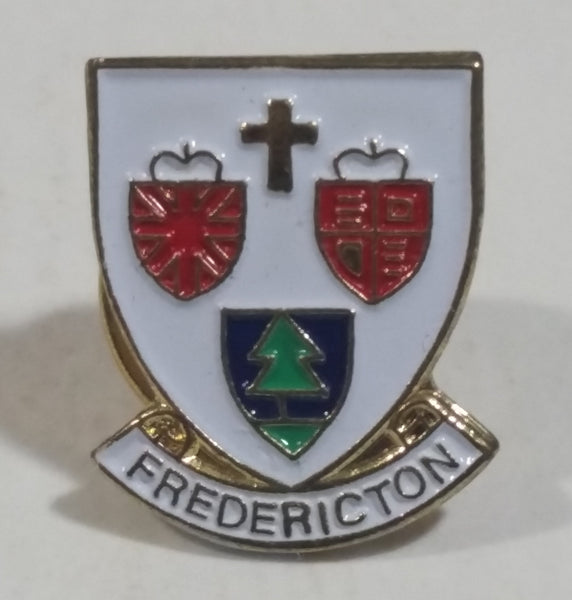 Fredericton, New Brunswick Coat of Arms Enamel Metal Lapel Pin Souvenir Travel Collectible