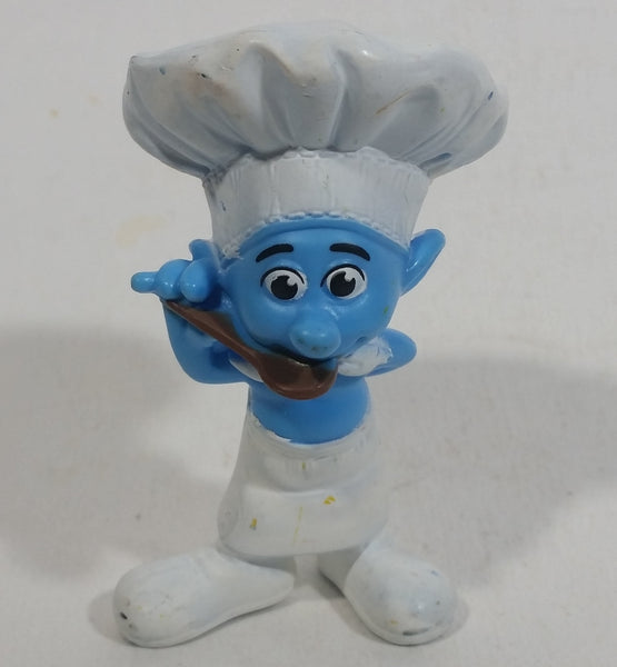 "2011 Peyo ""Chef"" Smurf Sipping From a Spoon PVC Toy Figure McDonald's Happy Meal"