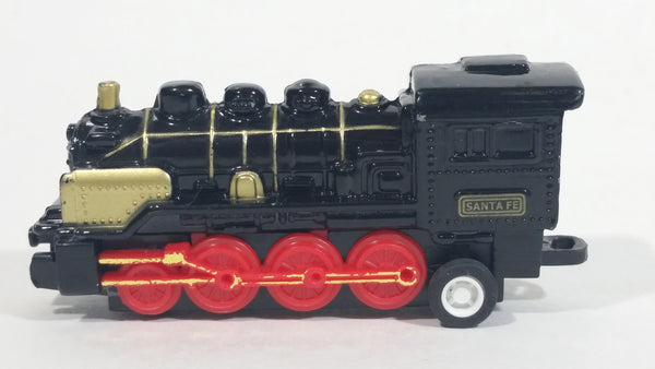 1990s Soma Santa Fe Train Engine Locomotive Pullback Motorized Friction Die Cast Toy Railroad Vehicle