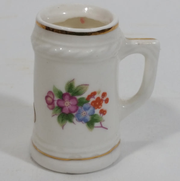 "Our Own Import Japan Bone China Beer Stein Shaped Toothpick Holder 2"" Tall"