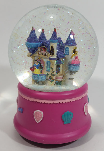 "Disney Princess' Castle Musical ""Let me call you sweetheart"" Snow Globe - Snow White, Ariel, Aurora - 6"" Tall"