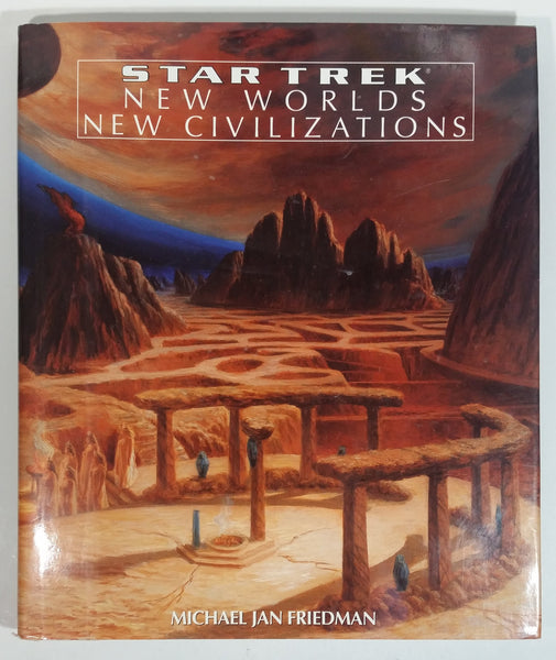Star Trek New Worlds New Civilizations Hard Cover Book - Michael Jan Friedman