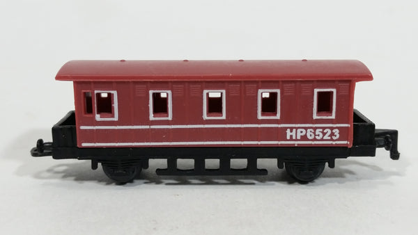 1990s Soma Train Car HP6523 Brown Red Plastic Toy Railroad Vehicle