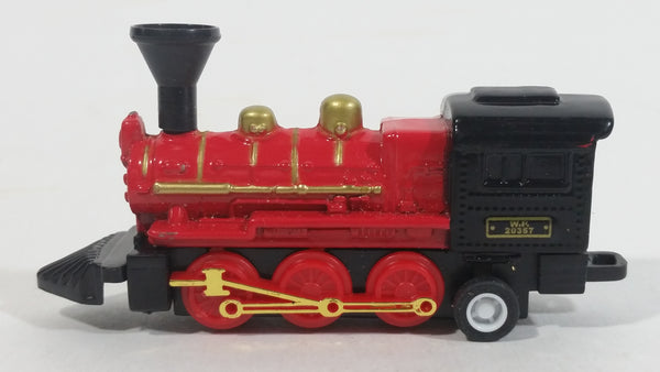 1990s Soma W.P. 20357 Engine Locomotive Pullback Motorized Friction Red Black Die Cast Toy Railroad Vehicle