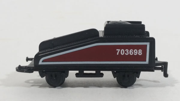 1990s Soma Train Coal Hauler Car 703698 Maroon and Black Plastic Toy Railroad Vehicle