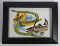 "Colorful Fish Aquatic Wildlife 6 1/4"" x 8 1/4"" Painting Print Signed Sam '05"