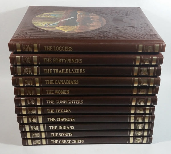 The Old West Time Life Book Series Leather Hard Cover 11 of 26 Volumes